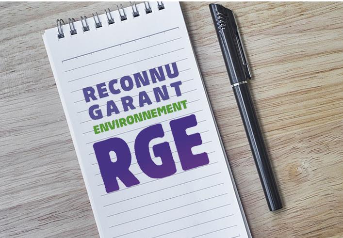 image bloc note et logo RGE